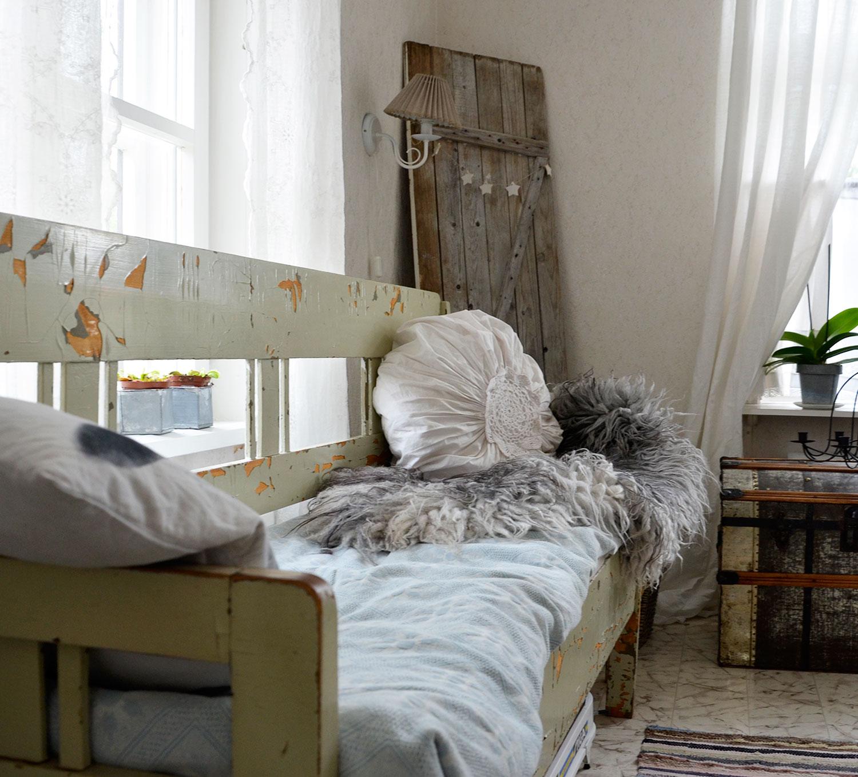 sohva, rustiikkinen, maalaisromanttinen