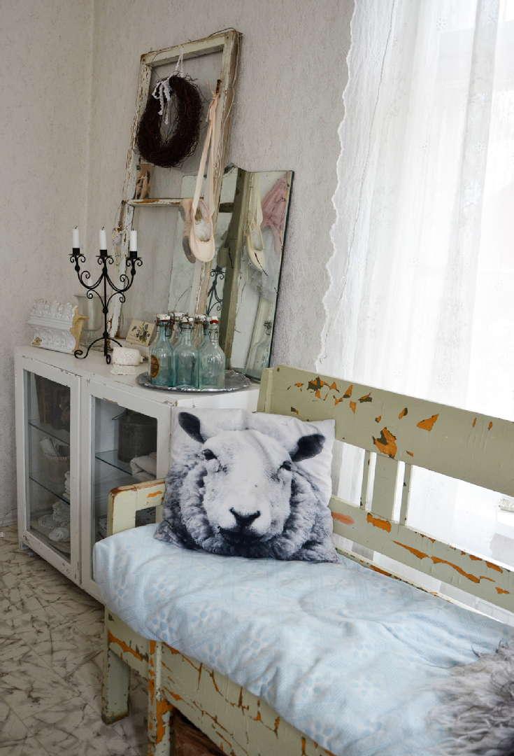 lammastyyny, maalaisromanttinen, sohva