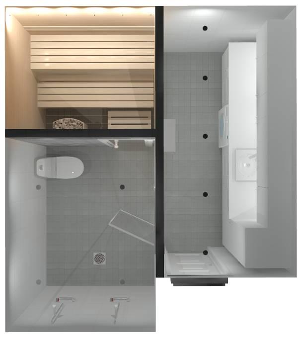 kylpyhuone, 3D-suunnitelma