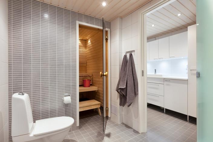 kylpyhuone, remontti, valmis