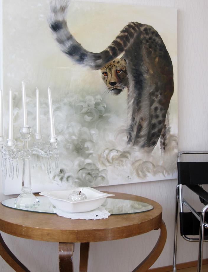 Taiteilijan koti, taulu olohuoneessa