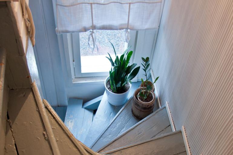 portaikon sisustus, pieni talo pirkanmaalla