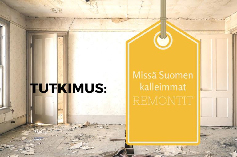 tutkimus: Suomen kalleimmat remontit