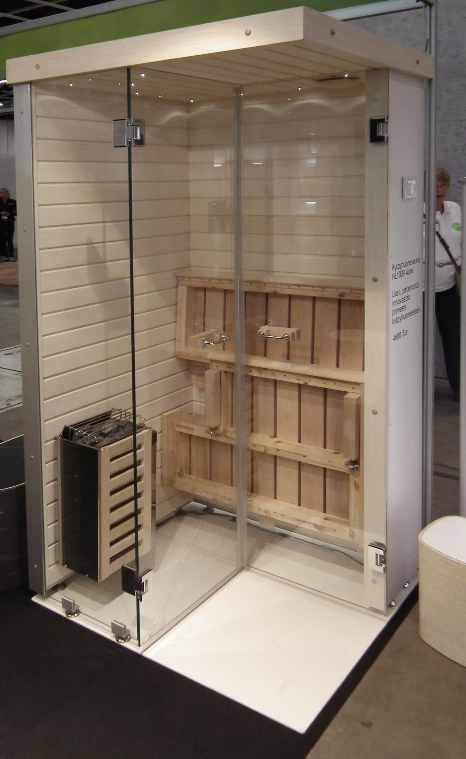 kokoontaitettava sauna