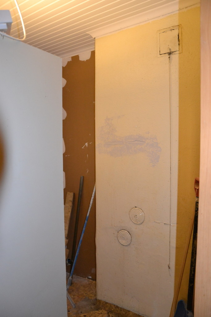 työhuoneen remontti, muuri